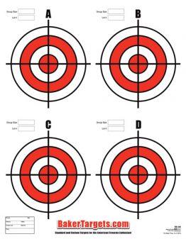 four bulls eye target