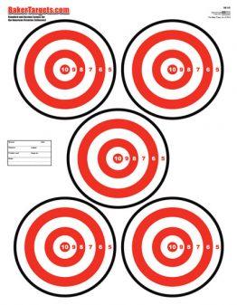 five bulls eye target