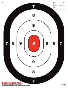 large oval target