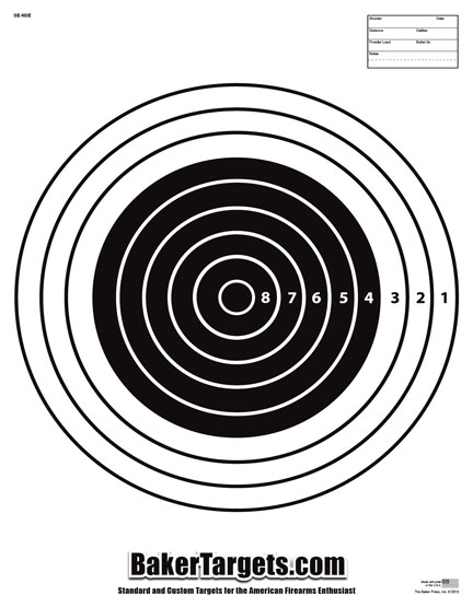 numbered bulls eye target