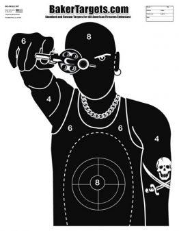 skull tattoo silhouette target
