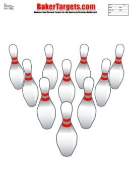 bowling pins target