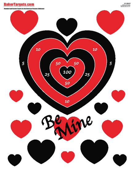 """be mine"" valentine target"