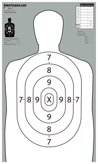 """b27 """"short"""" target - outline"""