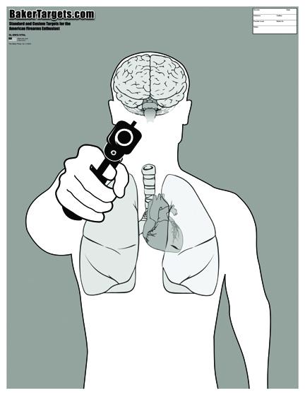 man with gun target-w/ vital organs