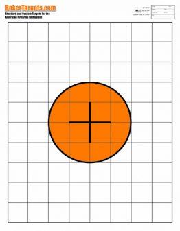 100 yard bulls eye rifle target