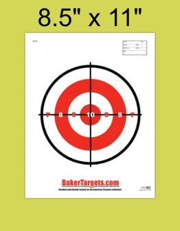 small single bulls eye target
