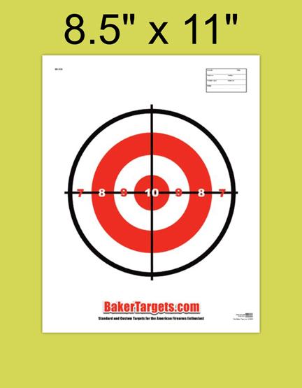 small single bulls eye target