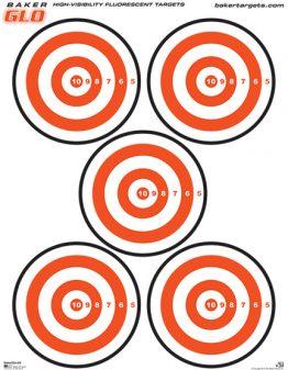 bakerglo five bulls eye target