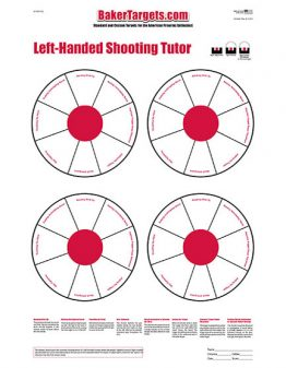 shooting tutor target left-handed